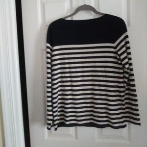 Gap navy stripe sweater size Med.